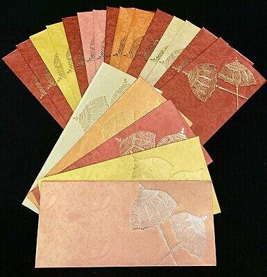 Assortiment 5 x Golden Enveloppes Mariage Cadeau d/'Argent shagun Salami Cash Portefeuilles
