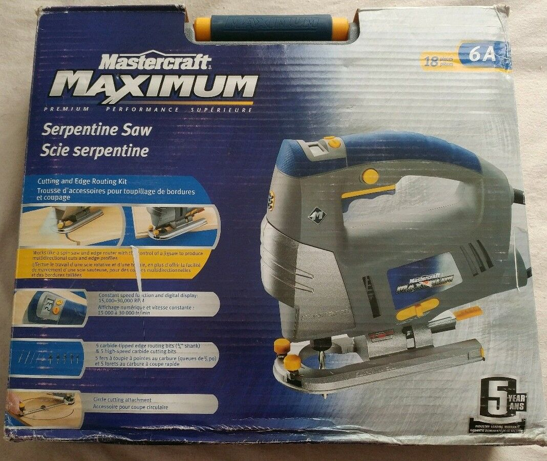 MASTERCRAFT MAXIMUM Serpentine Saw Kit  Router Bits+Saw Cutting bits+Guide inBOX