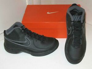 188041da0da41 Details about Nike The Overplay VII 7 Basketball Black Mid Sneakers  Athletic Shoes Mens 8