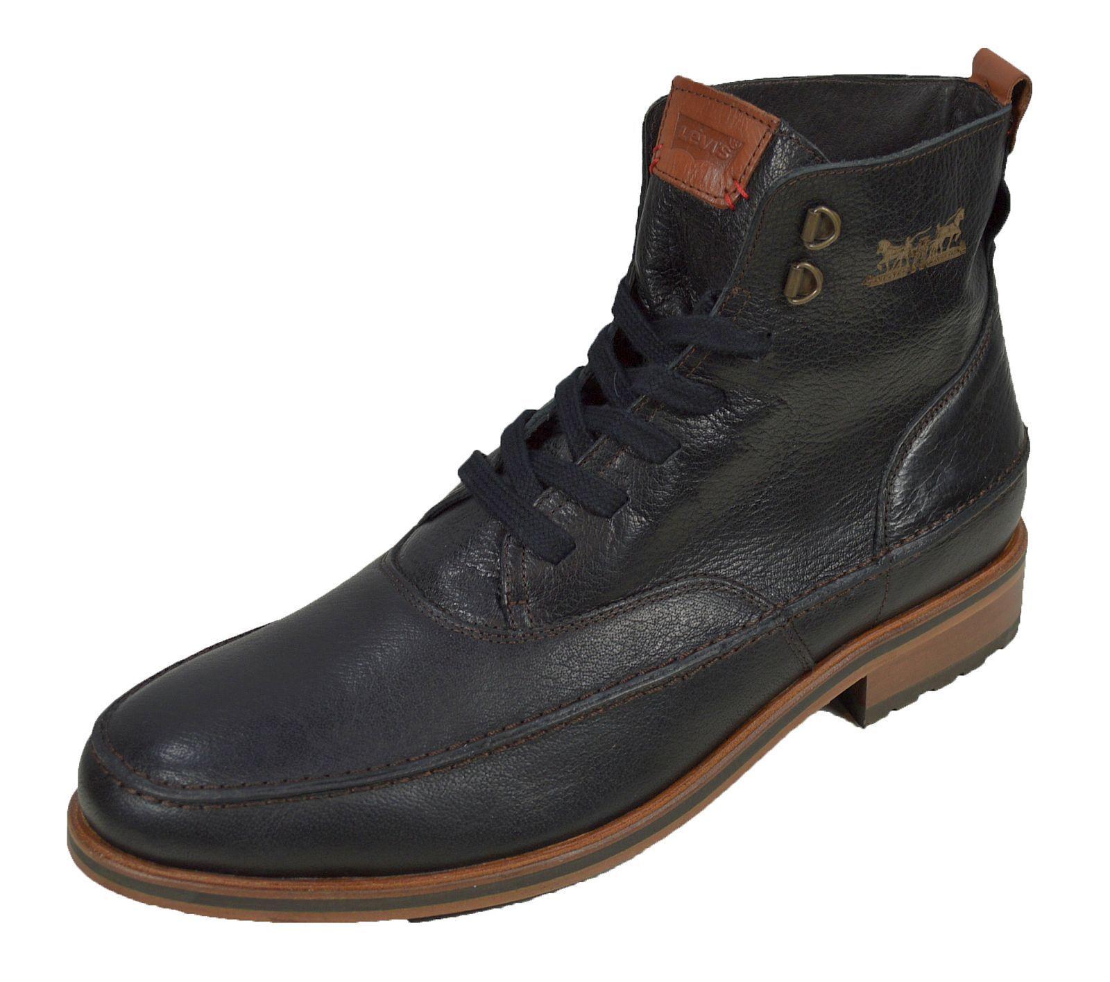 Levis Herren Leder Stiefel Schuhe Schwarz Herren Schuhe sale 10121500