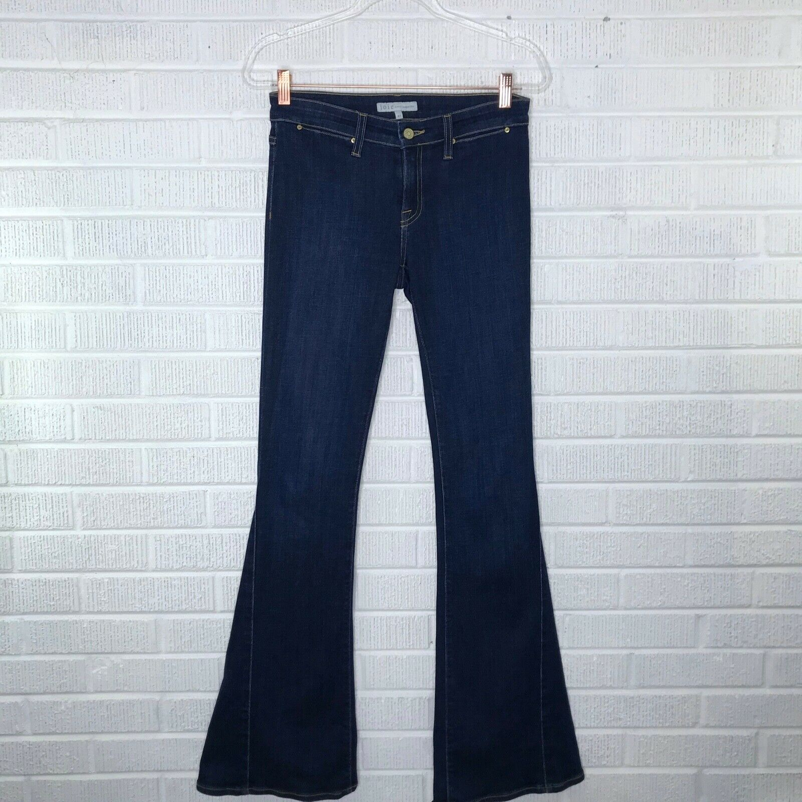 New Joie Size 27 Mid Rise Flare Jeans in Ravine Dark Wash Cotton Stretch