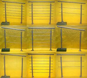 Edelstahl Geländer Handlauf Treppengeländer Balkongeländer V2A Treppe Bausatz