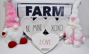 RAE-DUNN-Heart-Shaped-Plate-BE-MINE-XOXO-LOVE-I-DO-034-YOU-CHOOSE-034-NEW-HTF-18