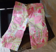 Gymboree Fairy Garden Madras Patchwork Pink Green Flowers Capris Pants 5 5T