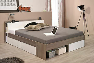 Stauraumbett Bett mit Schubladen Bett viel Stauraum in 140 cm und ...