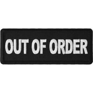 OUT-OF-ORDER-IRON-or-SEW-ON-PATCH