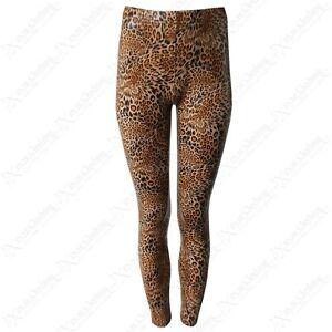 LADIES ANIMAL PRINT PU LEGGINGS LEATHER LOOK STRETCH WOMENS LEOPARD SNAKE PANTS