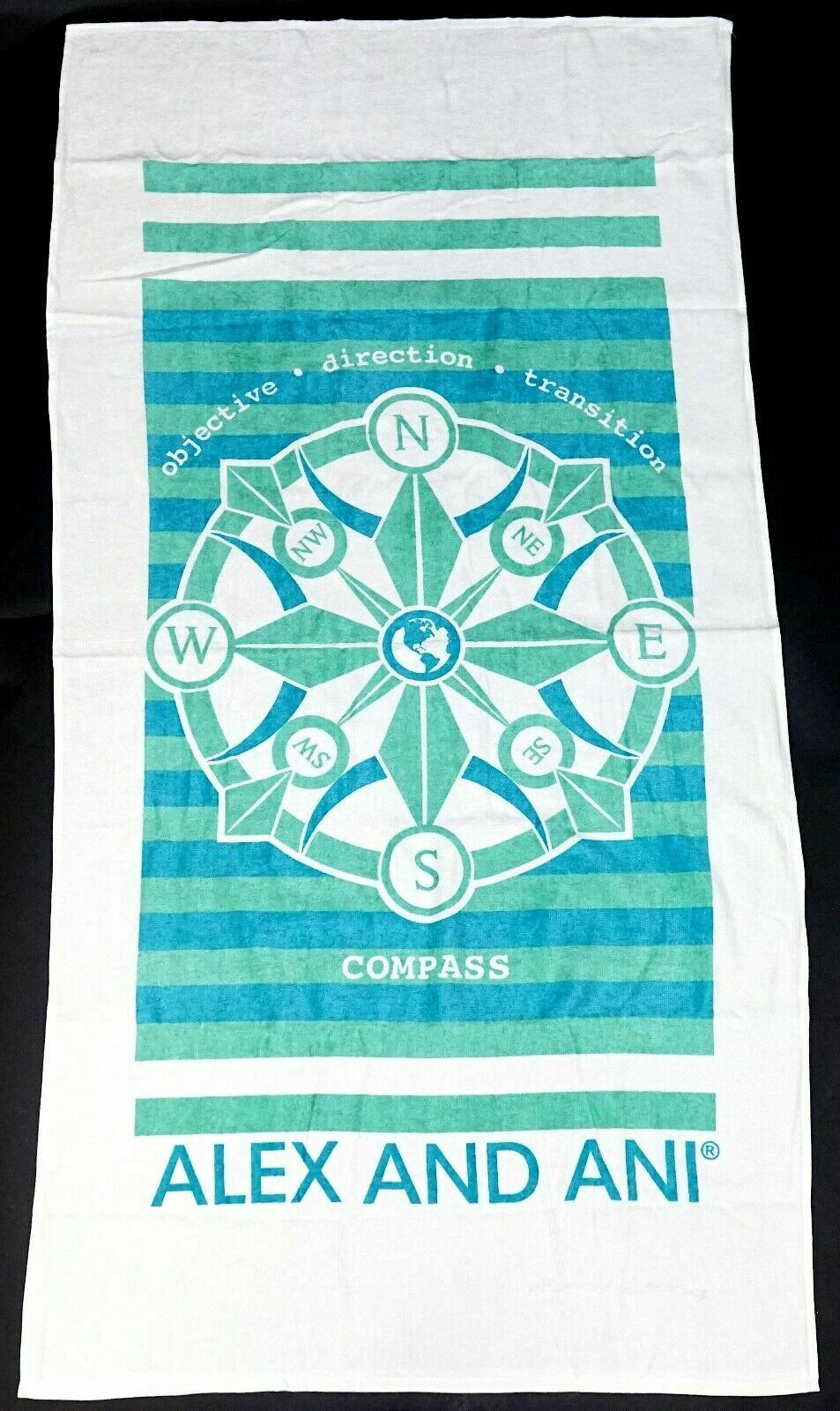 New Alex And Ani Objective Direction Transition Compass 30 x 58 Beach Pool Towel