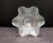 Fenton Peacock and Urn White Compote   -  MINT