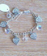 hand-made heart charm bracelet - girls/ladies