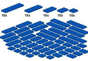 Lego-Bricksy-039-s-Bascis-Blue-B22-Platten-blau-breit