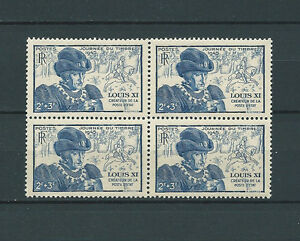 FRANCE-1945-YT-743-bloc-de-4-TIMBRES-NEUFS-LUXE