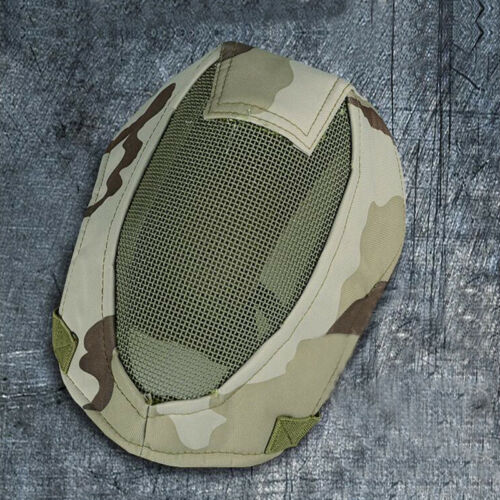 6-Colors Steel Mesh Protection Full Face Mask For Fencing Tactical Outdoor V3