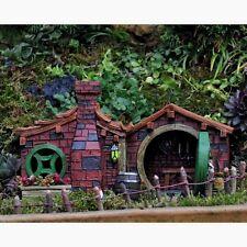 Miniature Garden Brick Hill Home House  Hinged Door Lantern Glows Shire GO 17253
