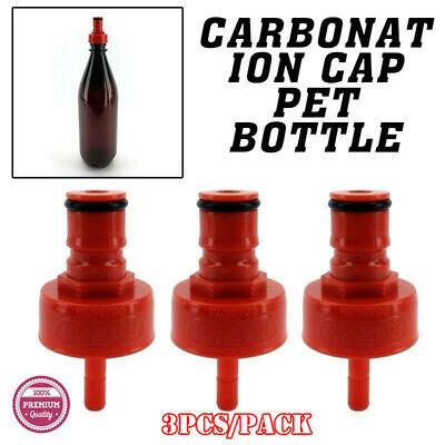 Kegland 3 Carbonation Cap PET Bottle Counter Pressure Filler Corny Keg Ball Lock