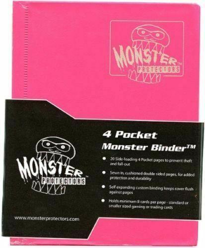 Monster Protector Album Binder 4 Pocket Matte Orange With