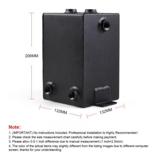 3L AN6 Universal Aluminum Fuel Surge Tank Swirl Pot System Oil Catch Can Black