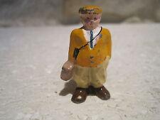 personnage figurine en plomb décor train electrique ech o  4cm no hornby