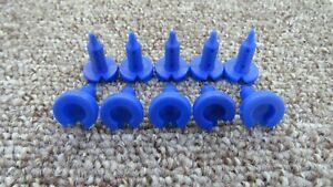 VAUXHALL DOOR INTERIOR CARD MOUNT /& TRIM PANEL FASTEN BLUE PUSH-IN CLIPS x10