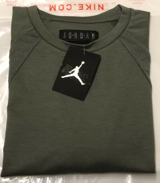 6b2a85440bde Nike Air Jordan FLIGHT TECH Crew T Shirt Sweatshirt Summer Top Size XXL