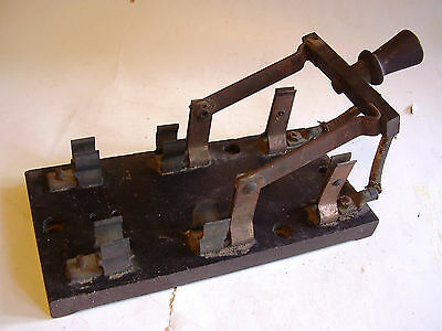 LARGE ANTIQUE INDUSTRIAL KNIFE SWITCH, VERY COOL & UNIQUE, STEAMPUNK, NO RESERVE