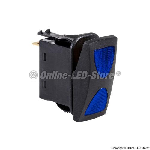 3 Position OLS 14V DC 20A 4-Pin Blue LED ON-OFF-ON SPDT Rocker Switch