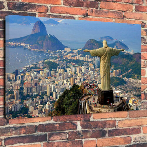 """Rio de Janerio Christ the Redeemer Printed Canvas Picture A1.30/""""x20/"""" 30mm Deep"""