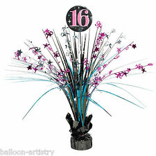 46cm Classic Sweet 16 16th Birthday Party Table Spray Centrepiece Decoration