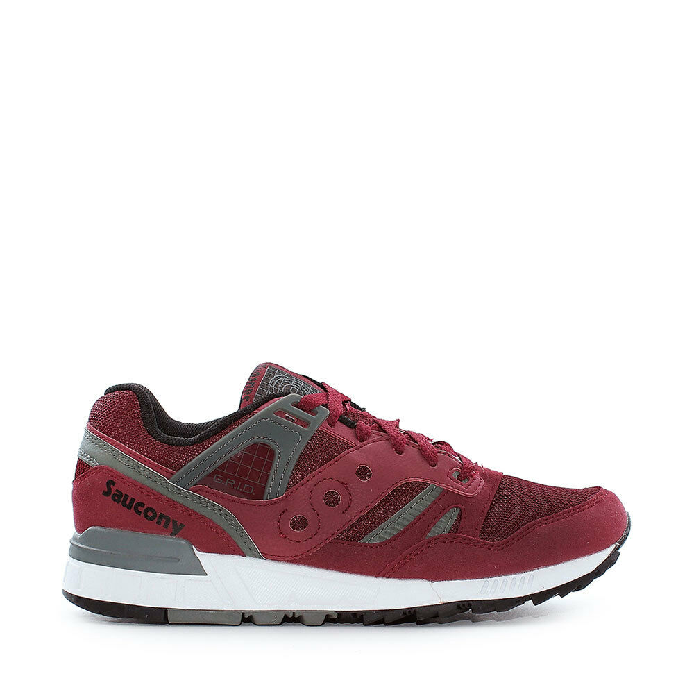 shoes SAUCONY GRID SD da men BORDEAUX SNEAKERS NUOVO S70217-6 SPORTIVE TG 46