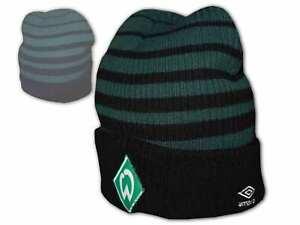 Umbro-Werder-Bremen-Beanie-gruen-SVW-Fan-Muetze-Strickmuetze-Erwachsene-Kinder-OSFA