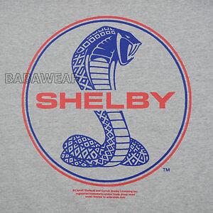 Ford Shelby Cobra Simple Logo Tee Shirt Car Auto Carroll Gray Ebay