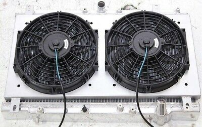 """Aluminum Radiator+12/""""Fan+Shroud COMBO For 97-01 Honda Prelude Manual 2.2L H22A4"""