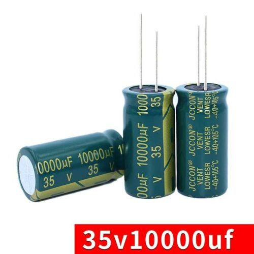 2PC 35V 10000uF High Frequency LOW ESR Radial Electrolytic Capacitors 18mmx35mm