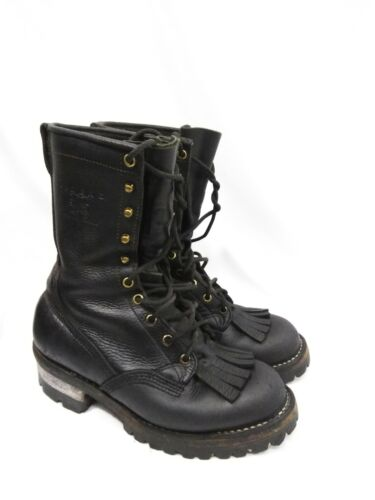 Viberg Black Steel Toe Boots Men's Viberg Size 7