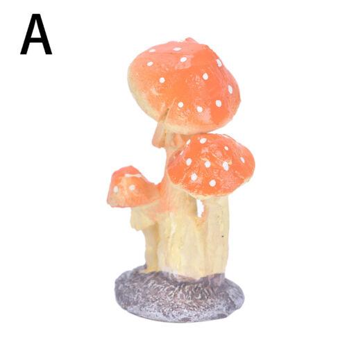 Useful Mini Resin Mushroom Toadstool Garden Ornaments  Potted Plants Decor gvPWD