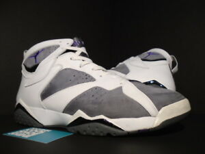 8c177c00b9d 2006 Nike Air Jordan VII 7 Retro WHITE PURPLE FLINT GREY GRAPE ...