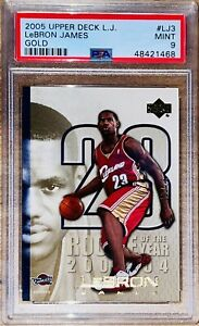 2005-LeBron-James-UPPER-DECK-GOLD-ROOKIE-OF-THE-YEAR-SP-23-LJ3-PSA-9-BGS-SP-RC