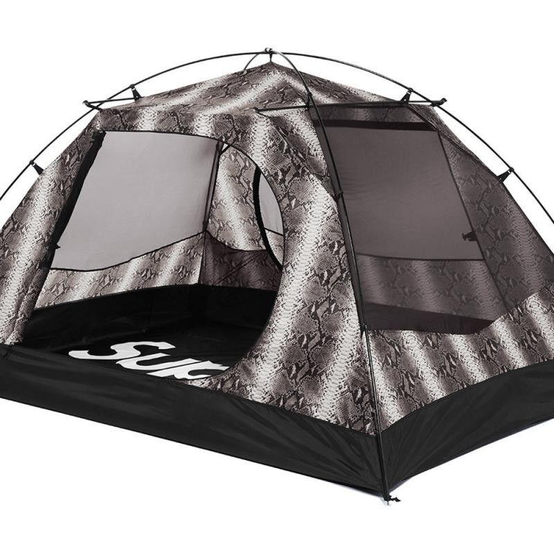 Tält för norra sidan.