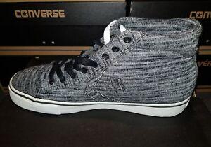 Converse-CONS-PRO-LEATHER-VULC-MID-Retro-Sneaker-UK-6-Nuovo-con-Scatola-Nero-Grigio