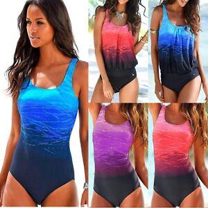 cdb56e5e5a3 Plus Size Women s Swimming Costume One Piece Swimwear Bathing ...
