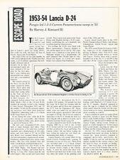 1953 1954 Lancia D-24 - Original Road Test Car Print Article J305