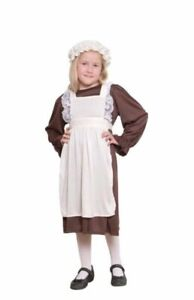 Enfant Fille Victorienne École Fille Pauvre Tudor Girl Fancy Dress Costume Outfit-afficher Le Titre D'origine