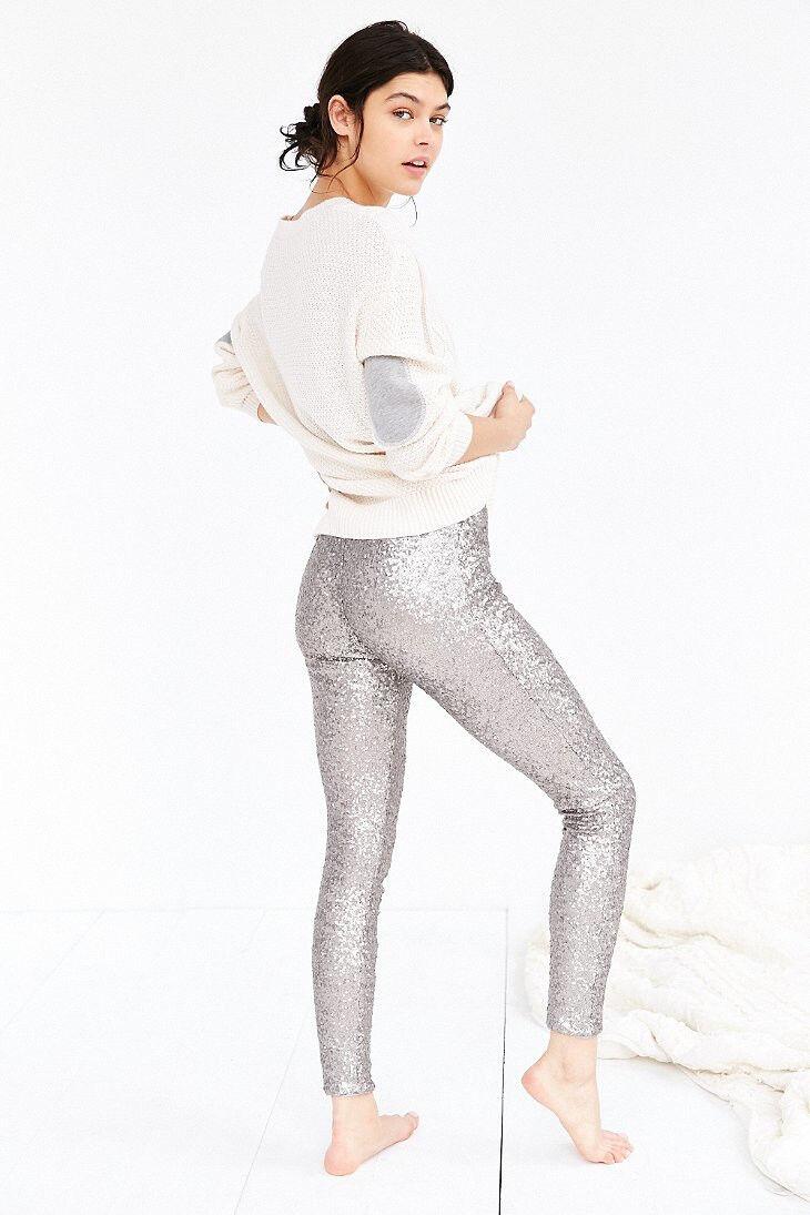 New Amuse Society Charley Legging Größe Medium  120 Silber sequin