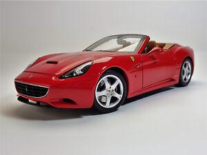 1 18 Hot Wheels Elite Ferrari California Logo Und Scheiben Vom