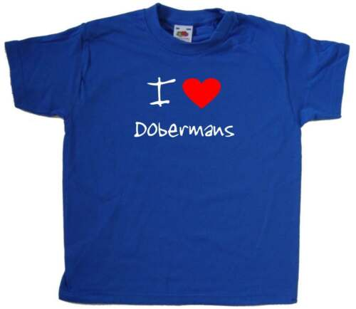I Love Cuore dobermans KIDS T-SHIRT