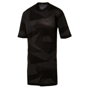 f071f77bac3 Puma Evo Knit Image Tee Graphic Short Sleeve Black Mens T-Shirt ...