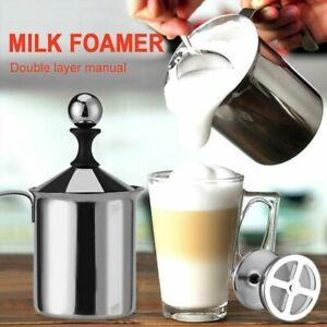 Milchschäumer 400ML Edelstahl Hand Schaumbecher Milchaufschäum