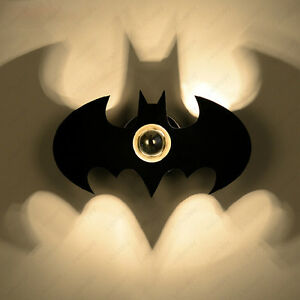 Image Is Loading 5w Led Batman Wall Sconce Light Fixture Indoor