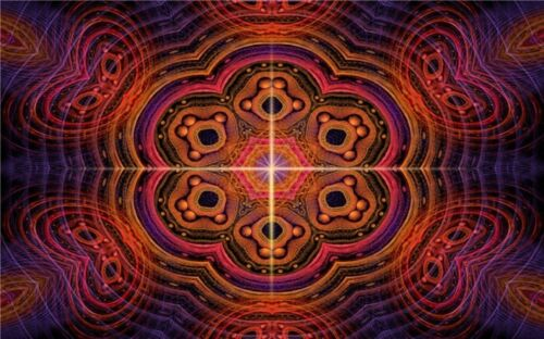 """Trippy Psychedelic Art Fabric Poster 21 x 13/"""" T63"""