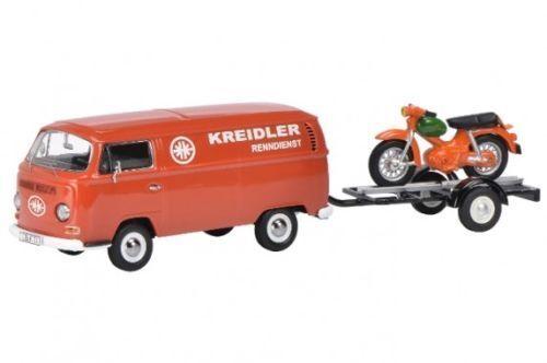 SCHUCO VW t2a  Kreidler Service  avec remorque  Kreidler Fleuret  1 43
